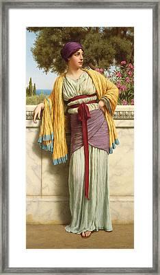 Cestilia Framed Print by John William Godward