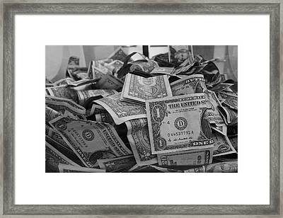 Cha Ching Framed Print by Anna Villarreal Garbis