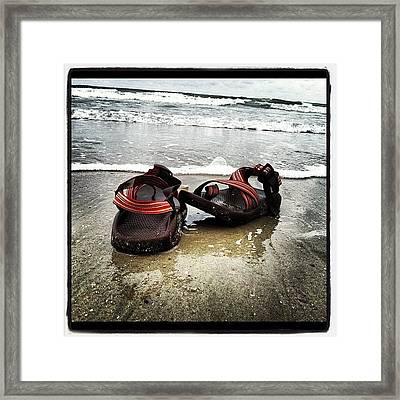 Chacos In The Water Framed Print