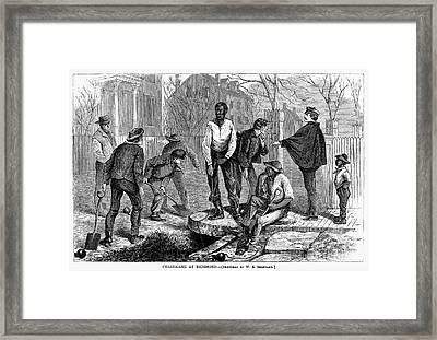 Chain Gang, 1868 Framed Print by Granger