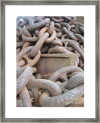 Framed Print featuring the photograph Chain Gang by Nancy Dole McGuigan