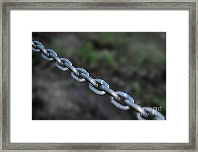 Chain Framed Print by Kaye Menner