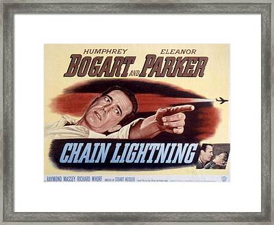 Chain Lightning, Humphrey Bogart, 1950 Framed Print