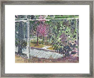 Chain Link Fence Framed Print by Donald Maier