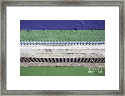 Chain Link Fence On Tennis Courts Framed Print