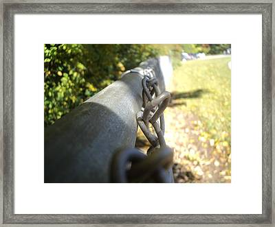 Chain-link Fence Framed Print by Wes Allen