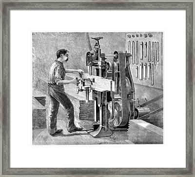 Chain Mortiser Saw, 19th Century Framed Print by