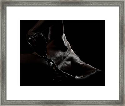 Chain On Nude Framed Print by Scott Sawyer