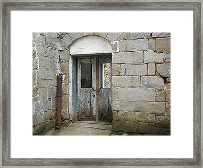 Framed Print featuring the photograph Chained Doors by Christophe Ennis