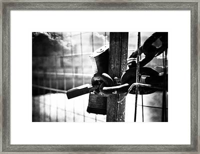 Chained Gate Framed Print by Phill Petrovic