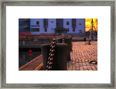 Chains Framed Print by Miso Jovicic