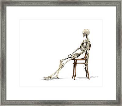 Chair Ergonomics, Incorrect Posture Framed Print