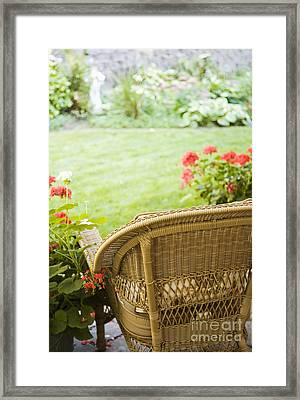 Chair Facing Yard Framed Print by Andersen Ross