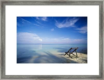 Chair On Tropical Beach In Ko Phi Phi Framed Print by Bilderbuch