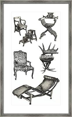 Chair Poster Vertical  Framed Print by Adendorff Design