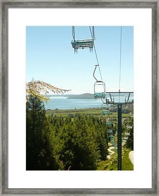 Chair Ride Framed Print by Amy Jayne Roper