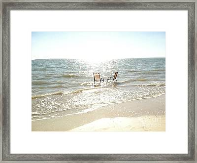 Chairs In Florida Framed Print