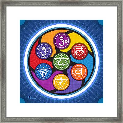 Chakra Circle Framed Print by Soul Structures