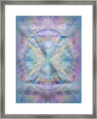 Chalice Of Vorticspheres Of Color Shining Forth Over Tapestry Framed Print