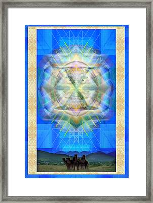 Chalice Star Over Three Kings Holiday Card Ix Framed Print by Christopher Pringer