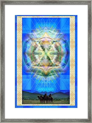 Chalice Star Over Three Kings Holiday Card Xabrti Framed Print by Christopher Pringer