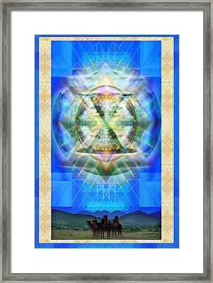 Chalice Star Over Three Kings Holiday Card Xbbrtii Framed Print