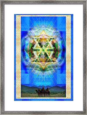 Chalice Star Over Three Kings Holiday Card Xbbrtiii Framed Print