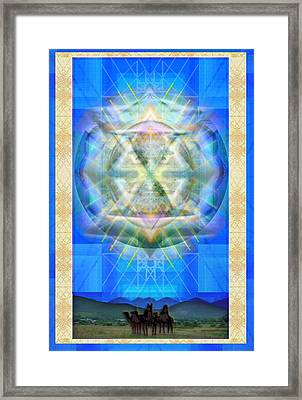 Chalice Star Over Three Kings Holiday Card Xci Framed Print