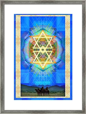 Chalice Synthesis Star Over Three Kings Holiday Card  Vi Lt Framed Print