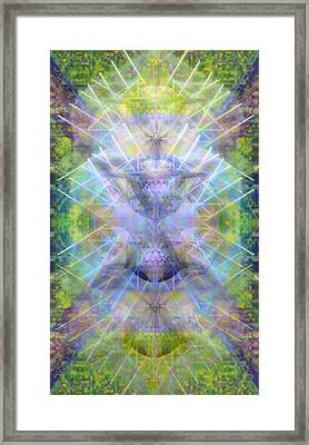 Chalicell Trees Of Light Over Garden Green Framed Print