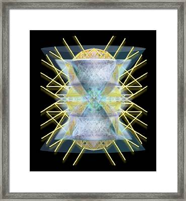 Chalices From Pi Sphere Goldenray II Framed Print