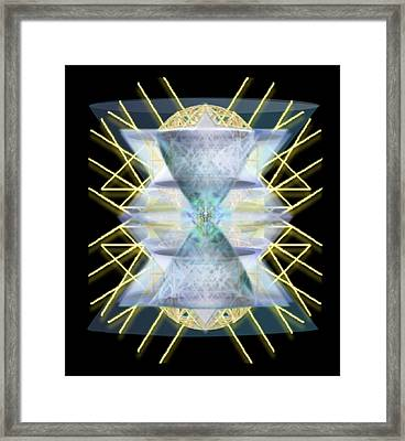Chalices From Pi Sphere Goldenray IIi Framed Print