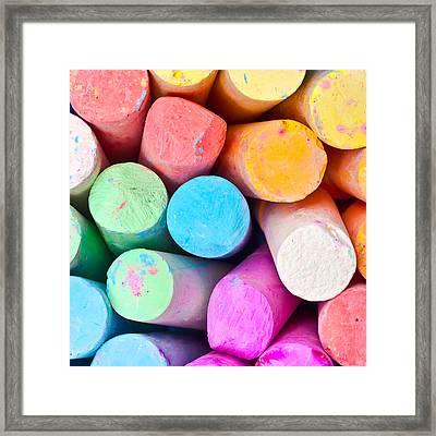 Chalks Framed Print by Tom Gowanlock