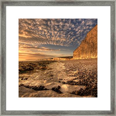 Chalky Path Framed Print by Mark Leader