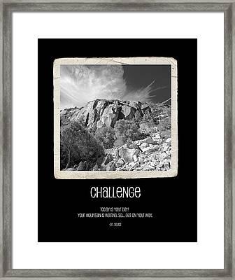 Challenge Framed Print by Bonnie Bruno
