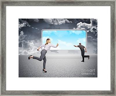 Challenge For Good Future Framed Print by Gualtiero Boffi