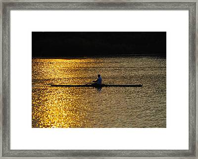 Challenge Yourself Framed Print by Bill Cannon