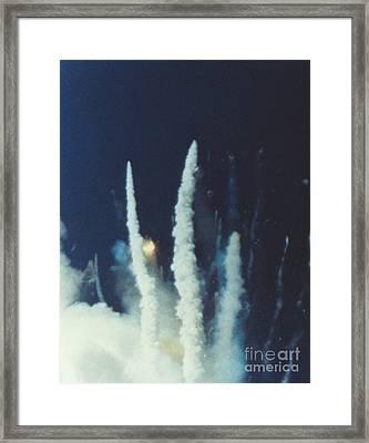 Challenger Disaster Framed Print