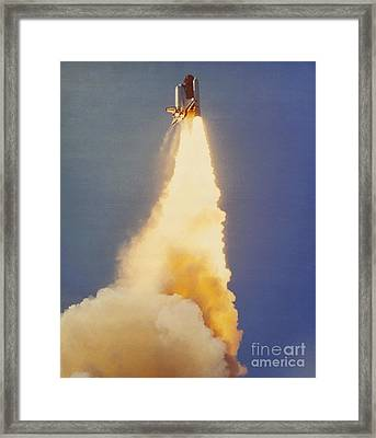 Challenger Lift-off Framed Print