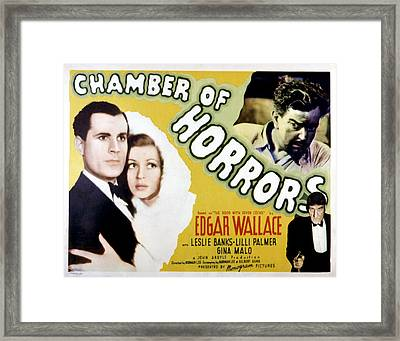 Chamber Of Horrors Aka Door With Seven Framed Print by Everett