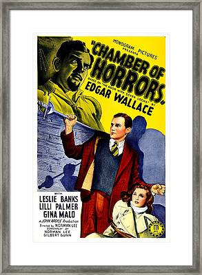 Chamber Of Horrors, Aka The Door With Framed Print