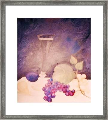Champagne And Fruit Framed Print by Alanna Hug-McAnnally