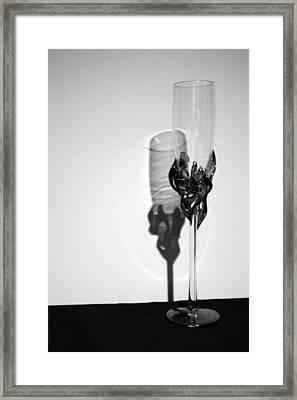 Champagne Glass Framed Print by Lauri Novak