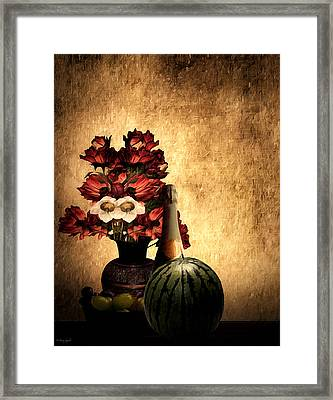Champagne Supernova Framed Print by Lourry Legarde