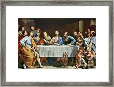 Champaigne: Last Supper Framed Print by Granger