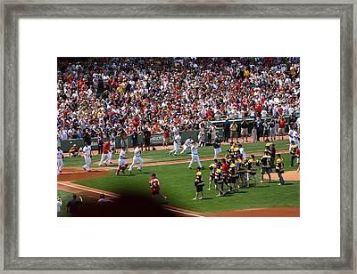 Champions Congratulating Champions Framed Print by Greg DeBeck