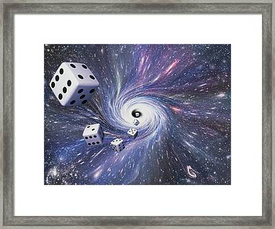 Chance In The Universe Framed Print by Mehau Kulyk
