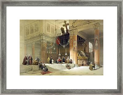 chancel of the church of St. Helena Framed Print by Munir Alawi