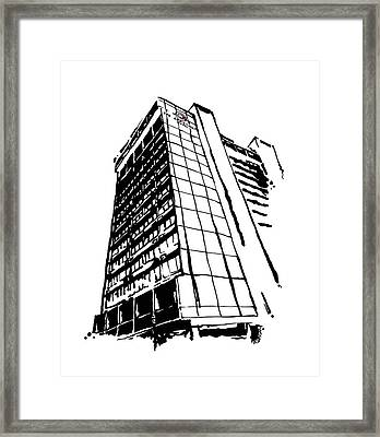 Chancellor Hotel In Fayetteville Ar Framed Print by Amanda  Sanford