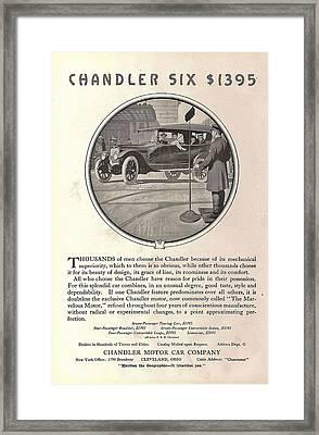 Chandler Model Six Touring Car Framed Print by Georgia Fowler